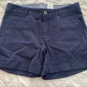 NWT Navy Chino Cuffed Shorts